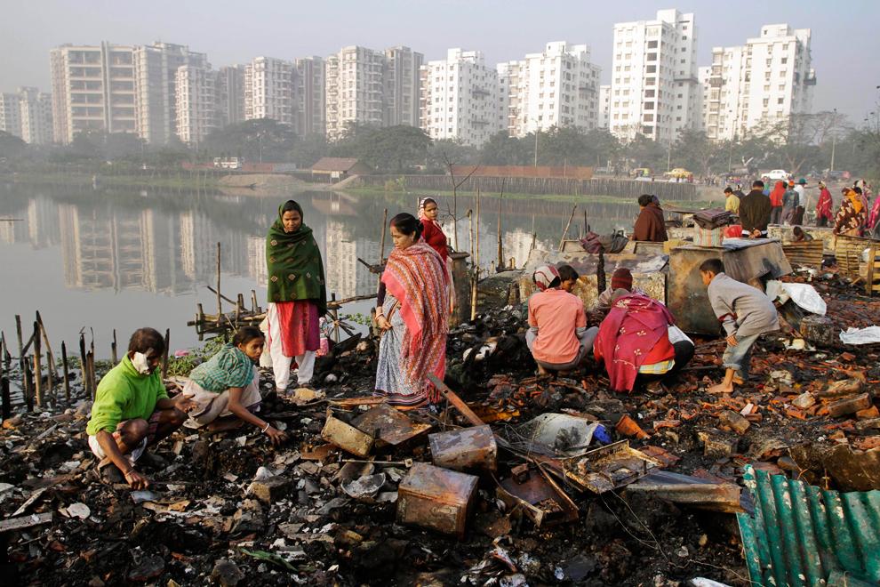 bp226 Жители трущоб в разных странах мира
