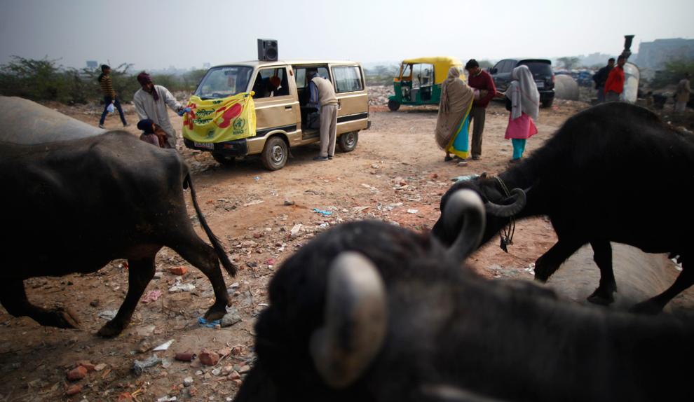 bp284 Жители трущоб в разных странах мира