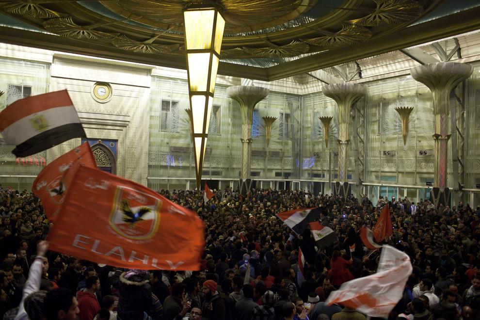 bp61 Египет: акции протеста после инцидента на футболе в Порт Саиде