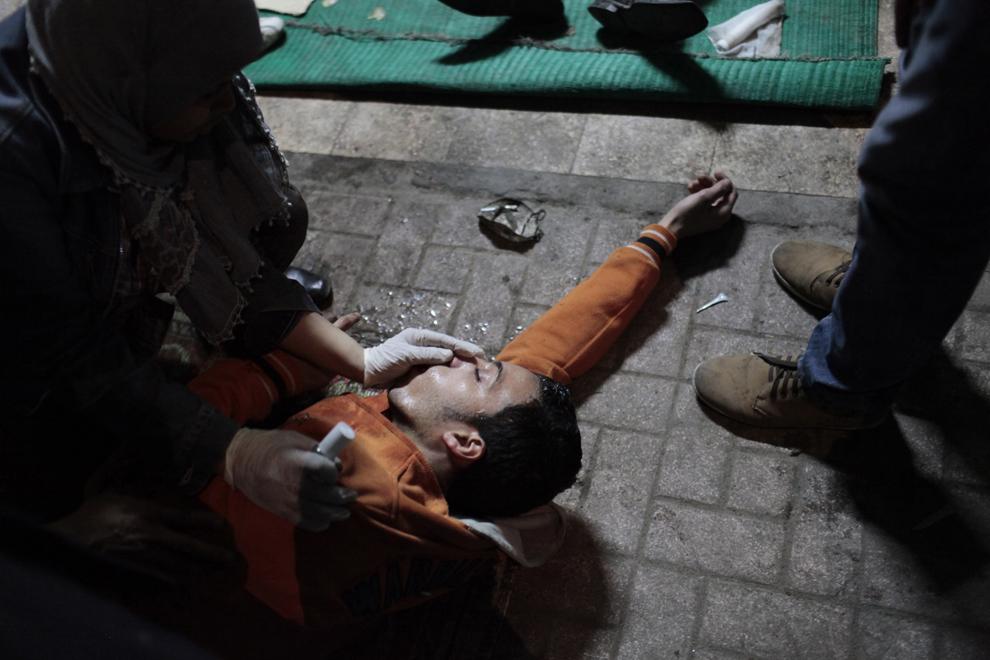 bp81 Египет: акции протеста после инцидента на футболе в Порт Саиде