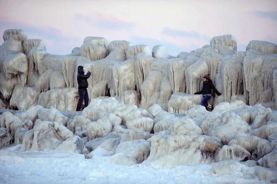 freeze05 Черное море впервые за 30 лет покрылось льдом