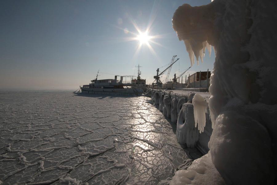freeze07 Черное море впервые за 30 лет покрылось льдом