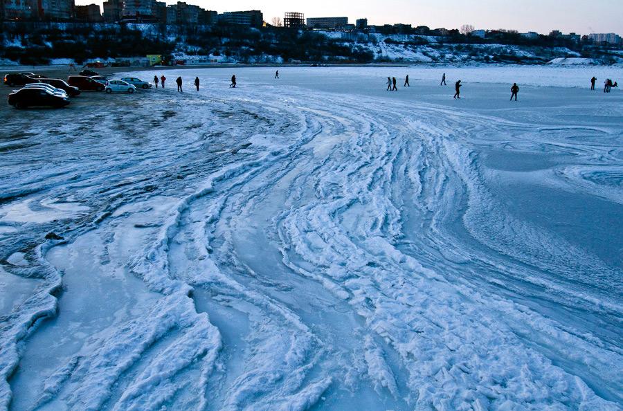 freeze19 Черное море впервые за 30 лет покрылось льдом