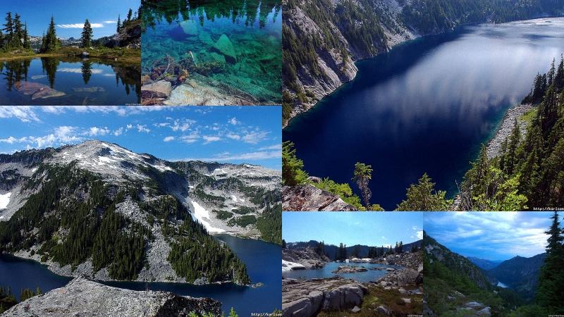 озера США: Озера и водопады долины реки Фосс