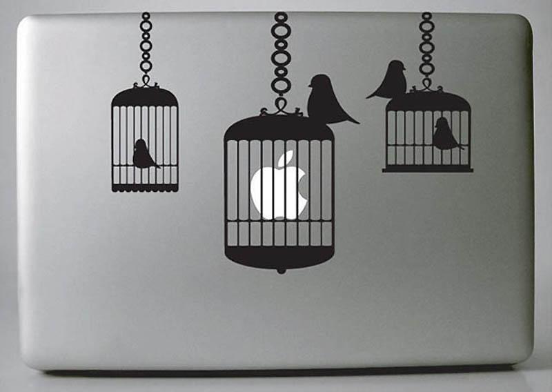 10148 50 креативных наклеек на MacBook