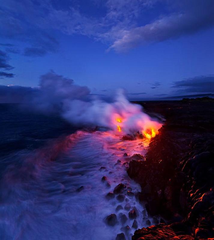 10164 Любитель лавы – фотограф вопасной близости отвулкана наГавайях