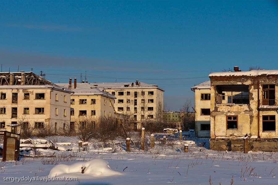 11156 Заброшенный город Кадыкчан на Чукотке
