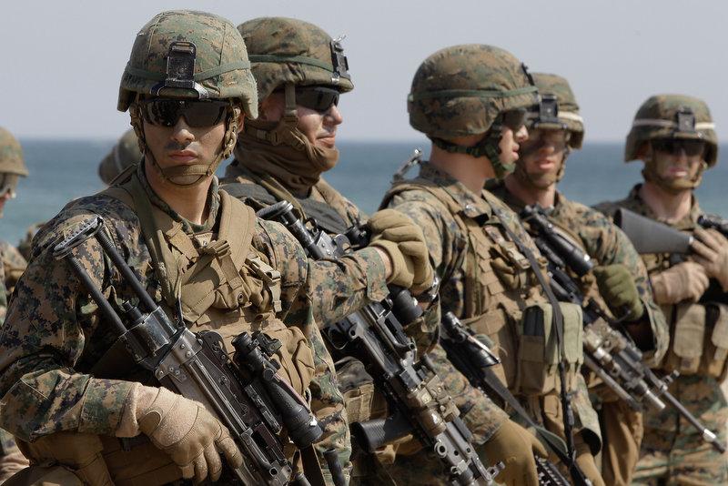 11187 Совместные учения южнокорейских и американских морпехов