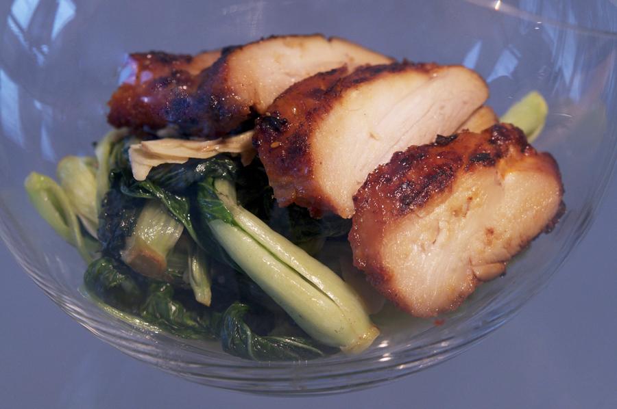 12122 Фоторецепт: Теплый салат с курицей