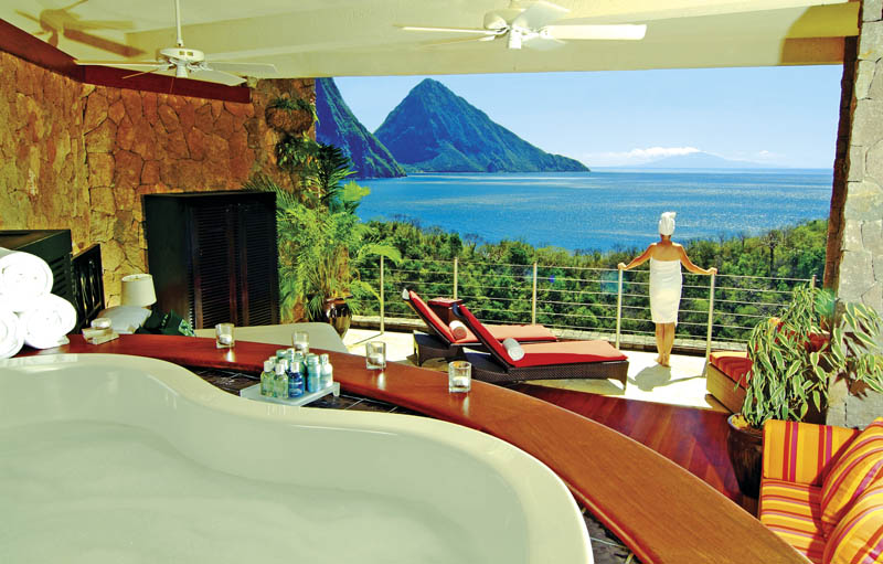 12134 Курорт Джейд Маунтин в Сент Люсии: инфинити бассейн в каждом номере