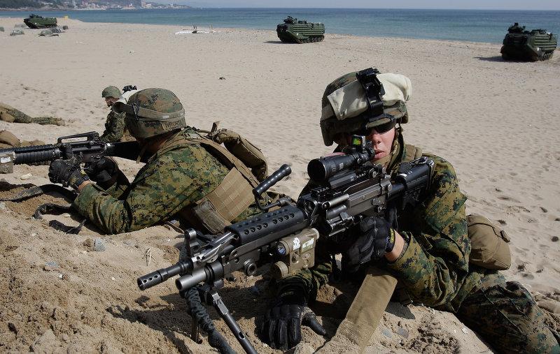 12159 Совместные учения южнокорейских и американских морпехов