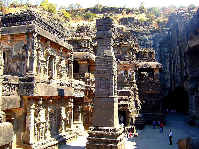 1221 Эллора пещерные храмы Индии