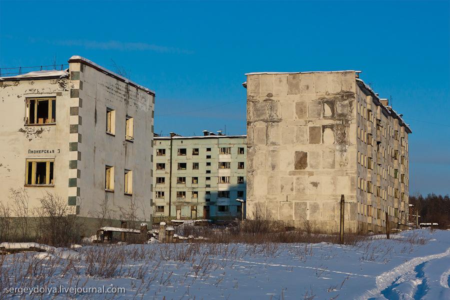 13113 Заброшенный город Кадыкчан на Чукотке