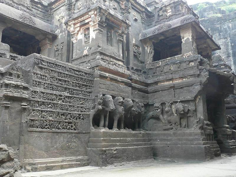1318 Эллора   пещерные храмы Индии
