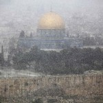 Иерусалим занесло снегом