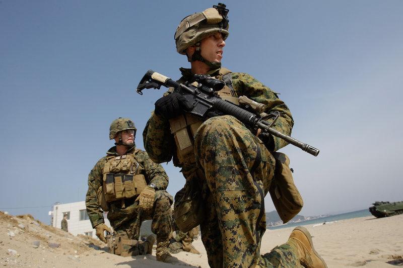 14131 Совместные учения южнокорейских и американских морпехов