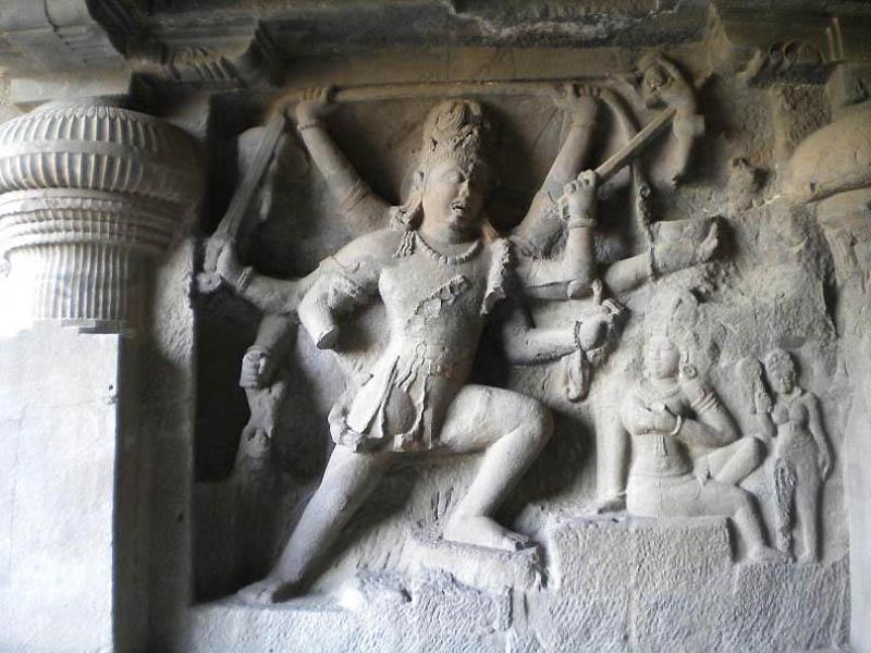 1415 Эллора   пещерные храмы Индии