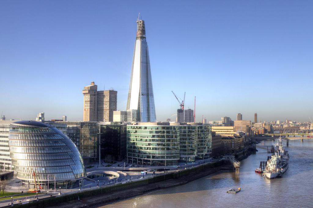 1435 Строительство небоскреба Shard London Bridge