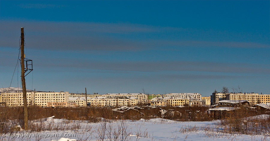 1506 Заброшенный город Кадыкчан на Чукотке