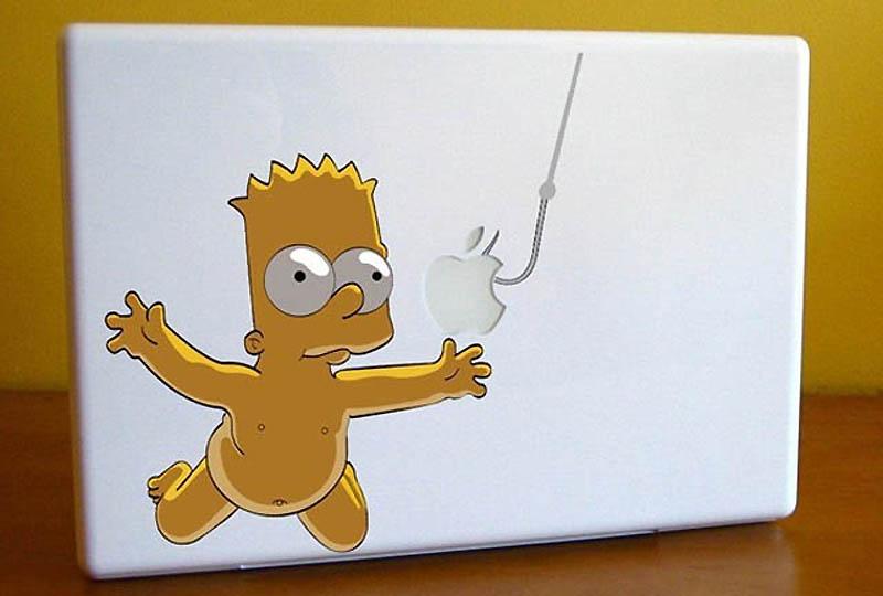15122 50 креативных наклеек на MacBook