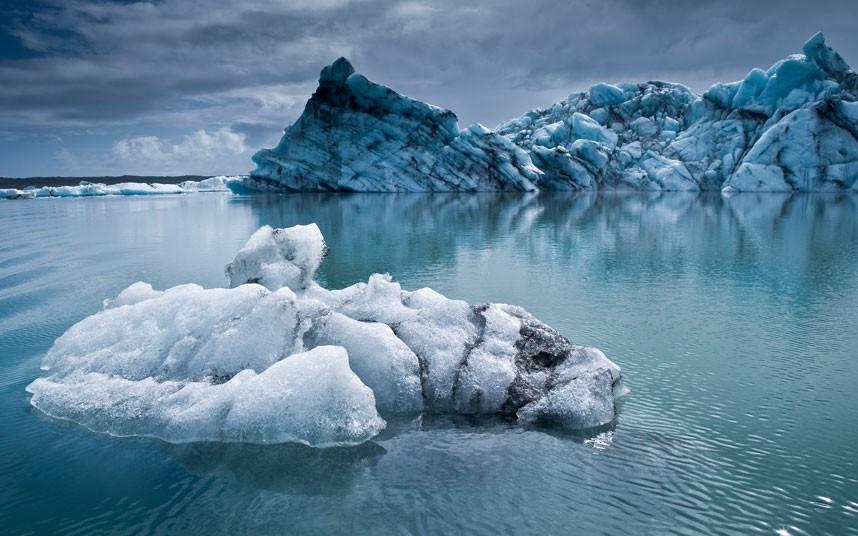 1576 Голубые айсберги и ледники Исландии