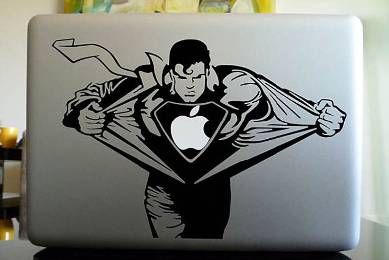 1607 50 креативных наклеек на MacBook