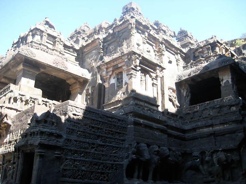1615 Эллора   пещерные храмы Индии