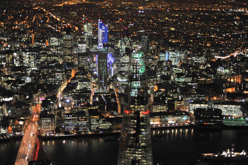 1659 Энергопотребляющий Лондон с высоты птичьего полета