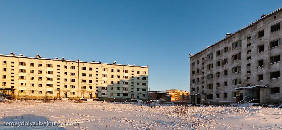 1685 Заброшенный город Кадыкчан на Чукотке