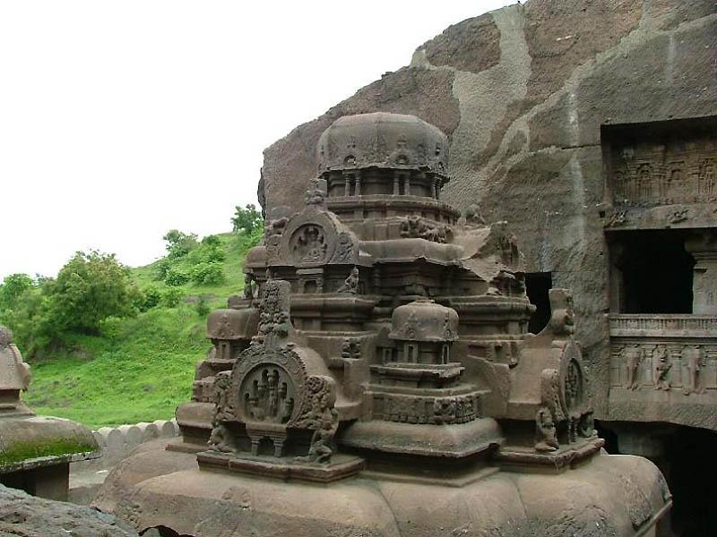 1715 Эллора пещерные храмы Индии