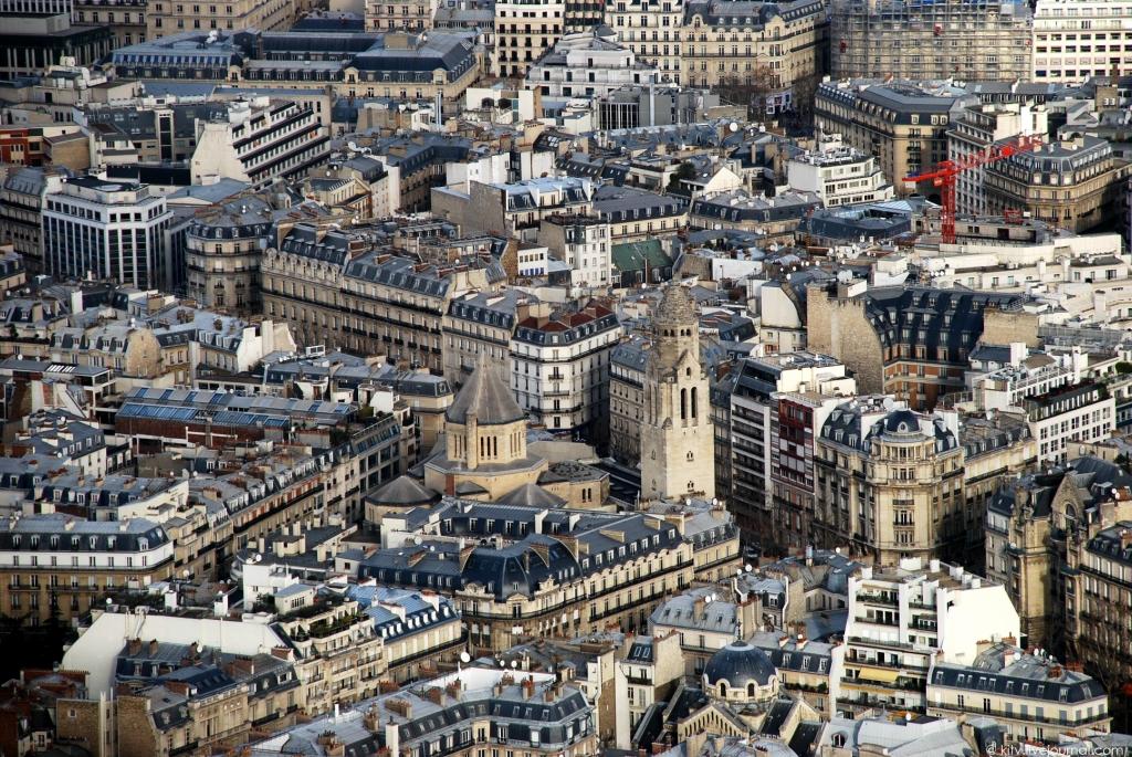 1760 Как выглядит Париж с Эйфелевой башни?