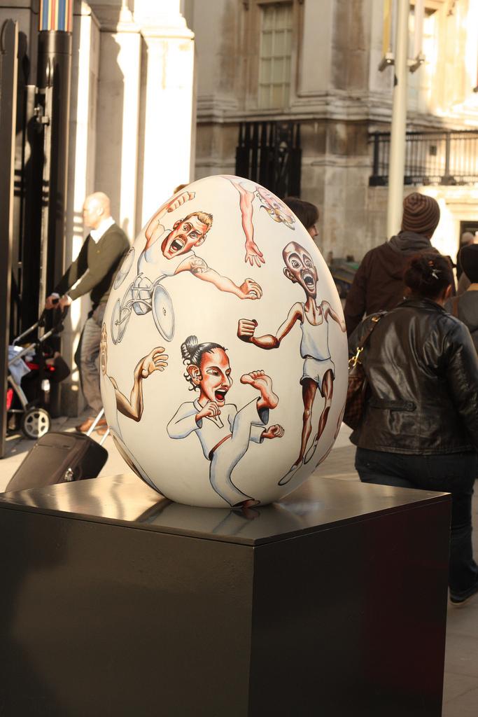 1827 Большая пасхальная охота за расписными яйцами в Лондоне