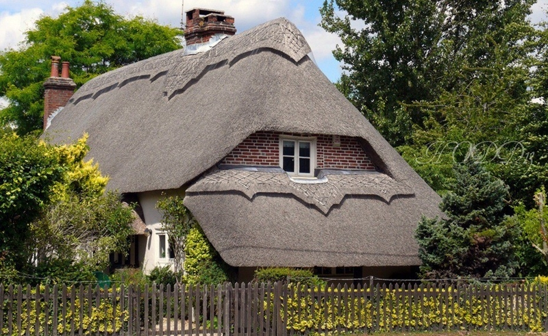 1912 Соломенные крыши английской провинции