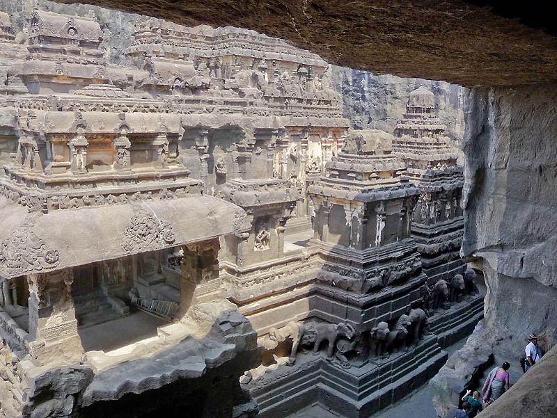 1913 Эллора пещерные храмы Индии