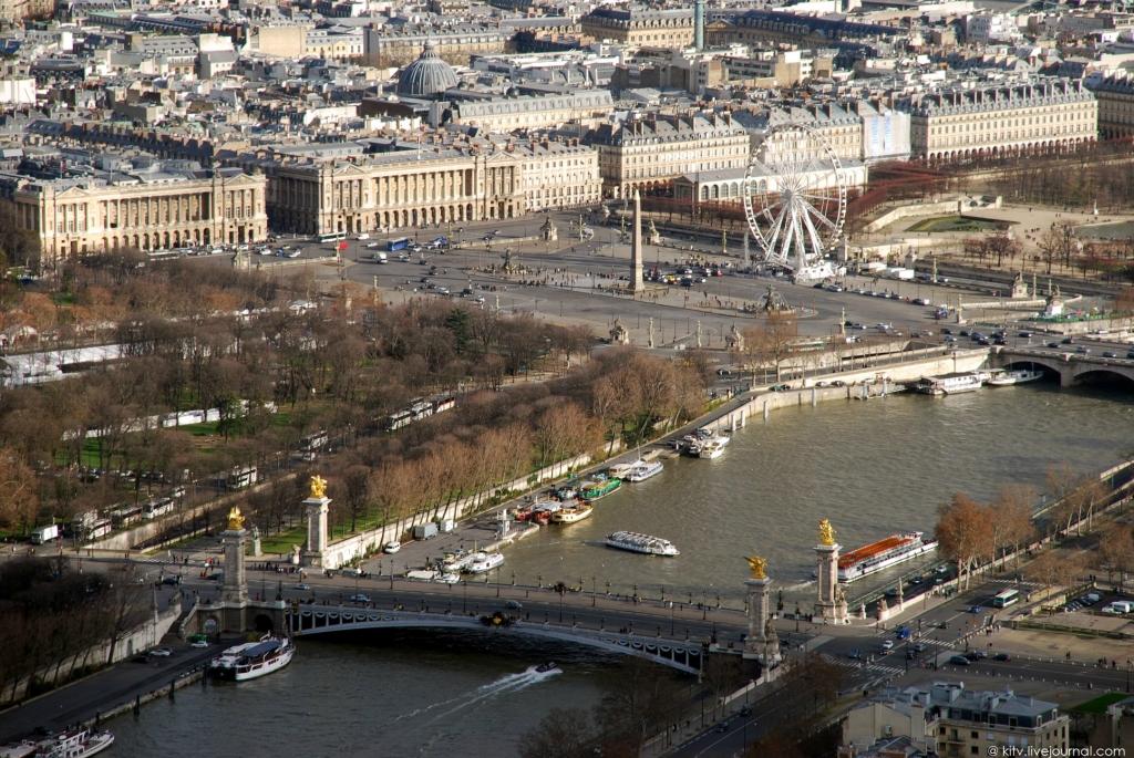 1955 Как выглядит Париж с Эйфелевой башни?