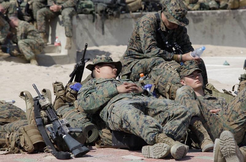 2084 Совместные учения южнокорейских и американских морпехов