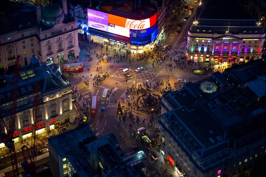 2194 Энергопотребляющий Лондон с высоты птичьего полета