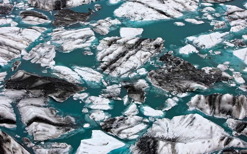 2256 Голубые айсберги и ледники Исландии