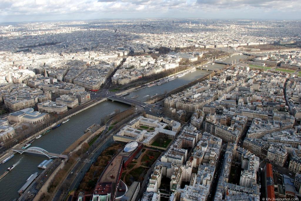 2345 Как выглядит Париж с Эйфелевой башни?