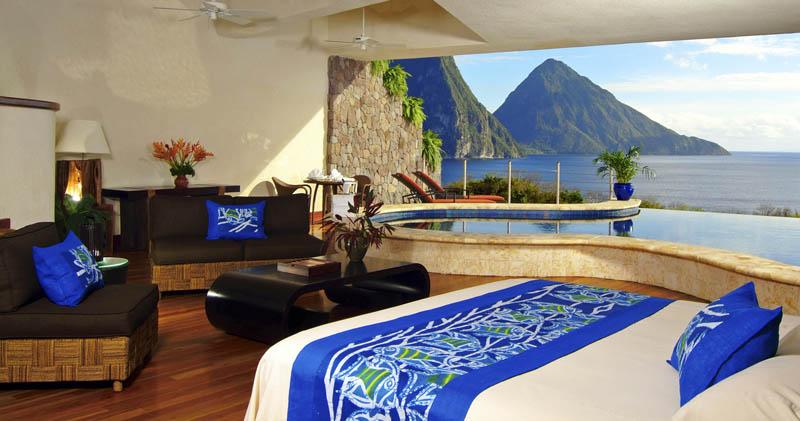 2361 Курорт Джейд Маунтин в Сент Люсии: инфинити бассейн в каждом номере
