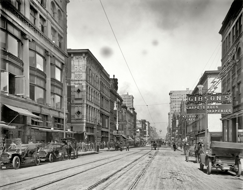 Американские мегаполисы сто лет томуназад