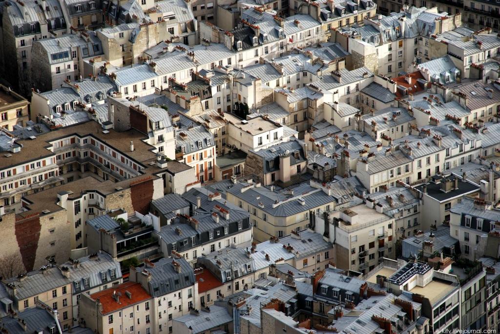 2540 Как выглядит Париж с Эйфелевой башни?
