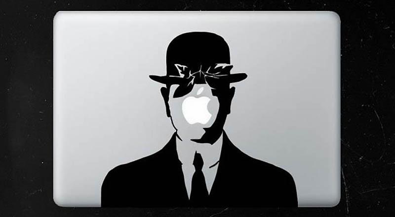 2564 50 креативных наклеек на MacBook