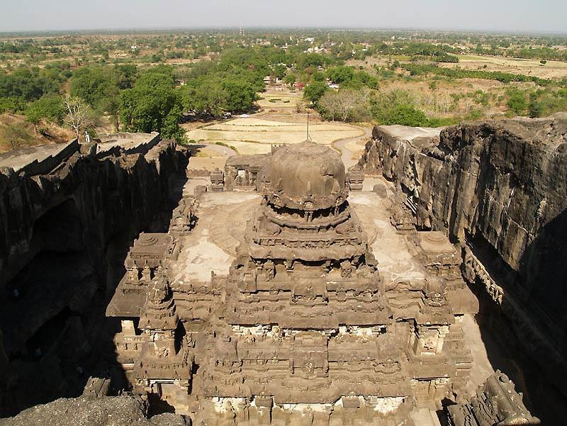 259 Эллора   пещерные храмы Индии