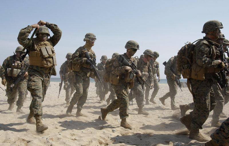 2655 Совместные учения южнокорейских и американских морпехов