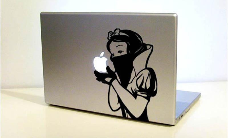 2743 50 креативных наклеек на MacBook