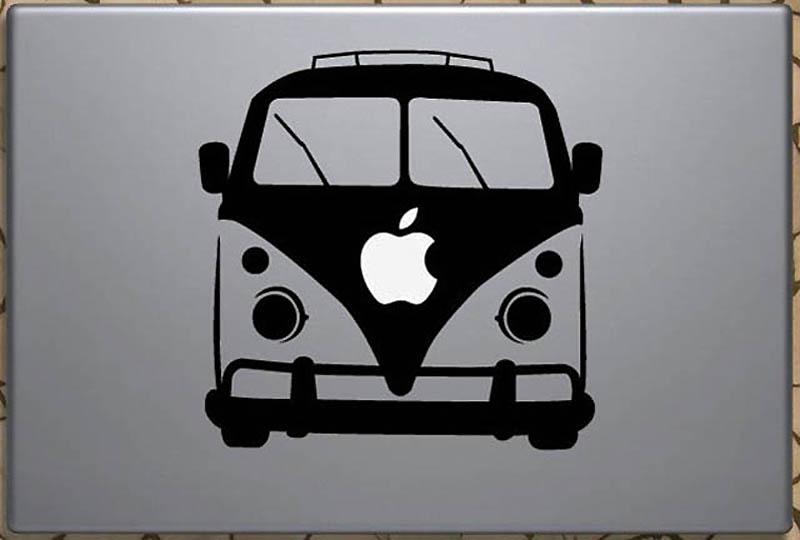 2841 50 креативных наклеек на MacBook