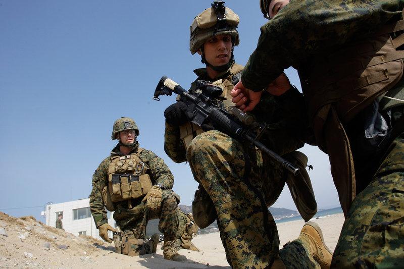 2847 Совместные учения южнокорейских и американских морпехов