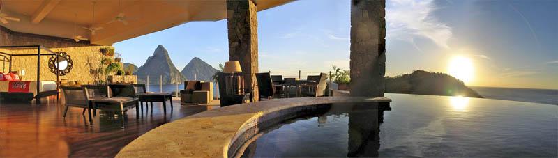 3028 Курорт Джейд Маунтин в Сент Люсии: инфинити бассейн в каждом номере