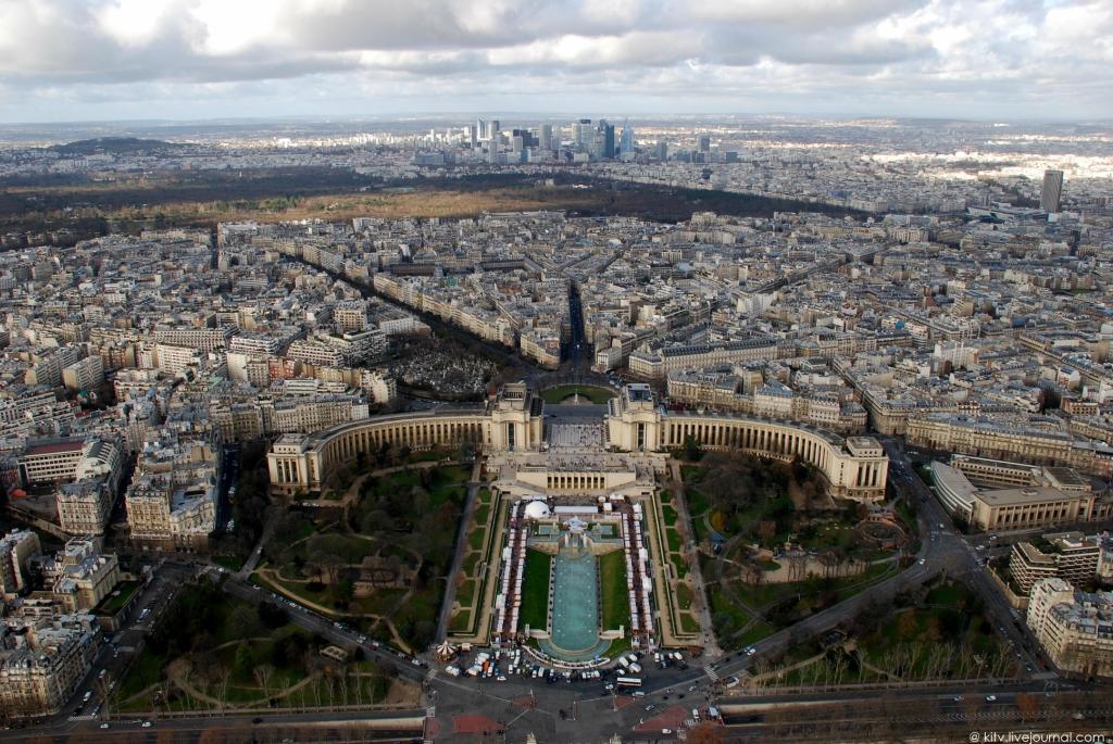 4123 Как выглядит Париж с Эйфелевой башни?